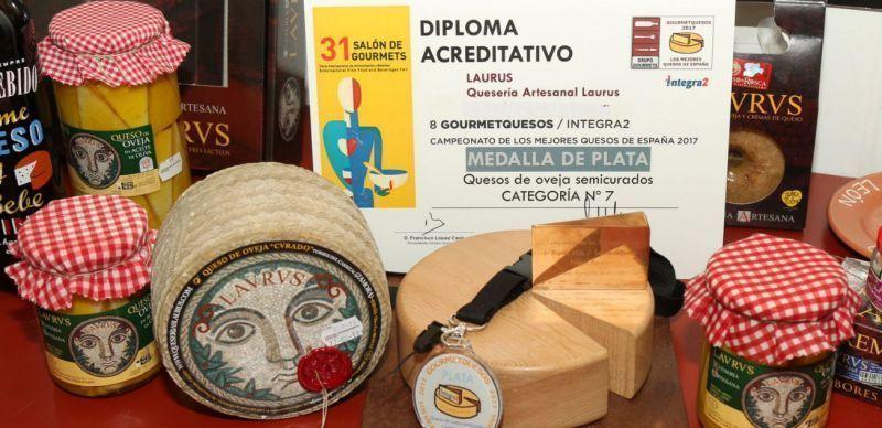 Quesos Laurus consigue la medalla de plata con su queso de oveja semicurado en el 31 Salón Gourmet
