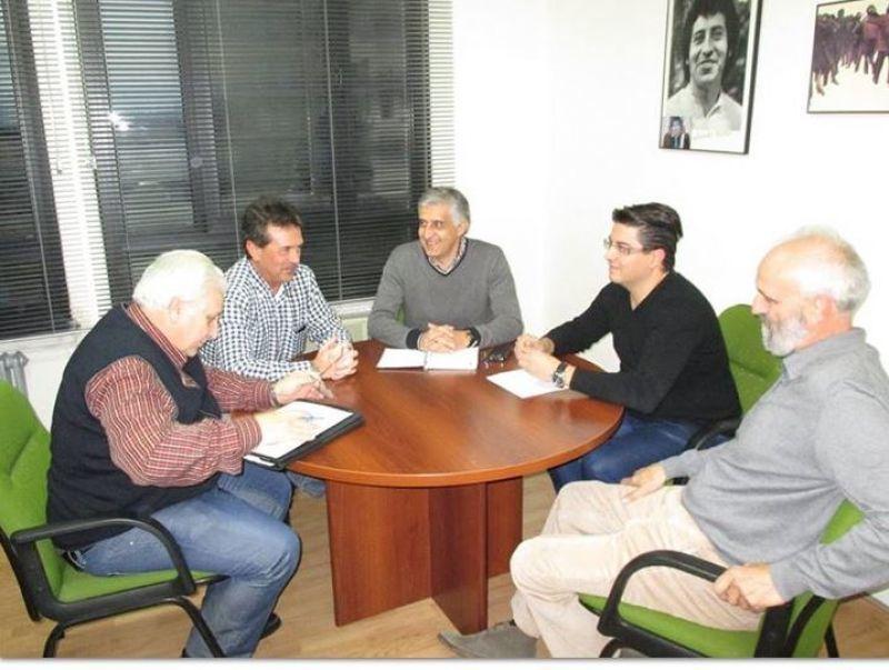 Reunión entre cargos del PSOE y de CCOO.