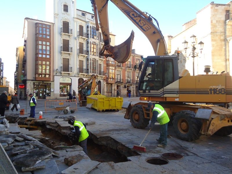 Obras en la Plaza Mayor.