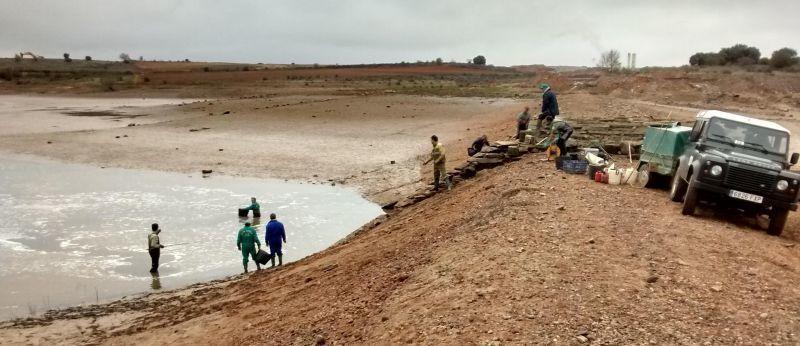 Rescate de los peces. Foto: Junta de Castilla y León.