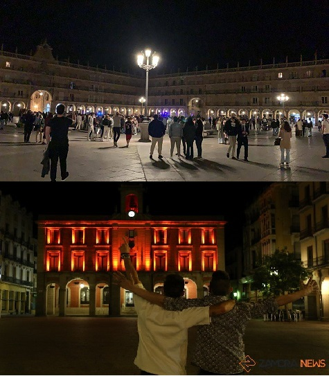 Diferencia clara, Zamora Plaza Mayor 12:05 de la noche, Salamanca 12:05 Plaza Mayor